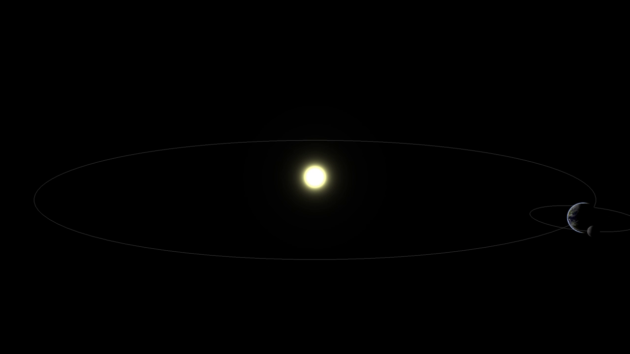 Solar System with athmosphere and Sun disc